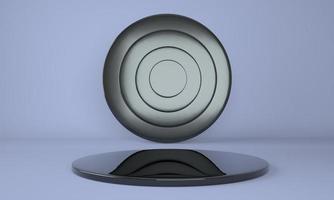 Pedestal for display, platform for design, blank product. 3D rendering. photo