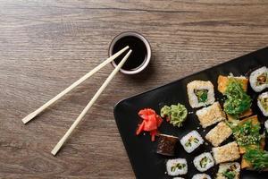 Various of sushi rolls photo