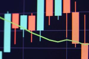 Financial stock market graph. Stock Exchange. Selective focus photo