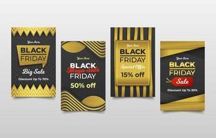 tarjeta publicitaria de venta de viernes negro vector