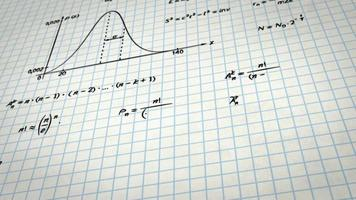 Math physics formulas on squared paper tilting loop video