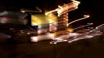 Intense pov journey through New York City streets at night video