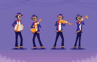 Costume Party Dia de Los Muertos Character vector