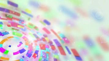 Multicolored circular segments rotate loop video