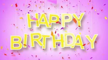 Happy birthday greeting loop video