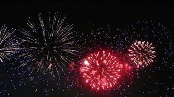 Fireworks seamless loop video