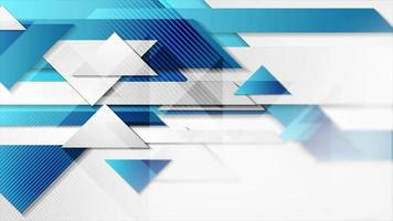 Abstract hi-tech geometric motion design with glossy triangles video