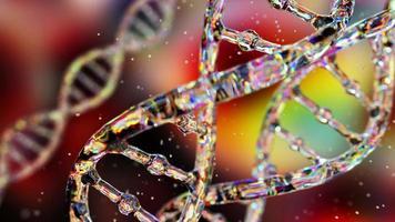 ADN abstracto sobre un fondo oscuro video