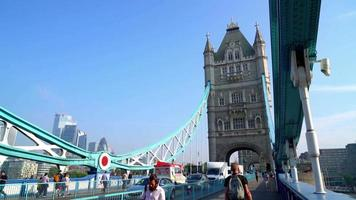 Tower Bridge in London City, UK video
