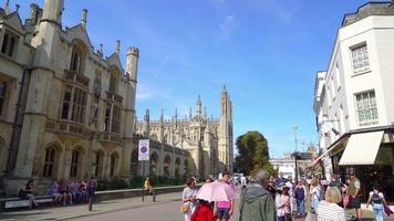 Cambridge City view with College in England video