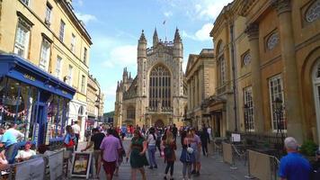 Bath City with church in Bath, England, UK video