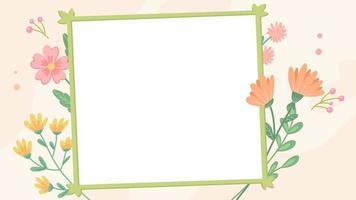 Cartoon Border - Tropical Flower Frame video