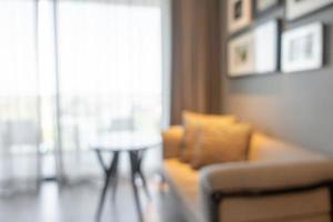Desenfoque abstracto e interior de la sala de estar desenfocada para el fondo foto