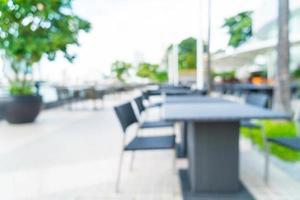 restaurante al aire libre de desenfoque abstracto para el fondo foto