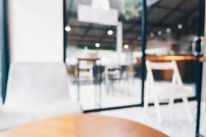 Cafetería y cafetería de desenfoque abstracto para el fondo foto