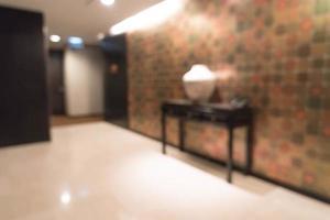 Resumen hermoso interior de hotel de desenfoque de lujo foto