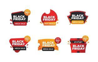 Set of Black Friday Mega Sale Badge vector