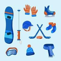 Winter Sport Icon Equipment Collection vector