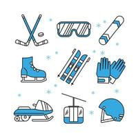 Collection of Winter Sport Icons vector