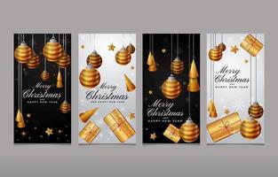Christmas Template Social Media Stories vector