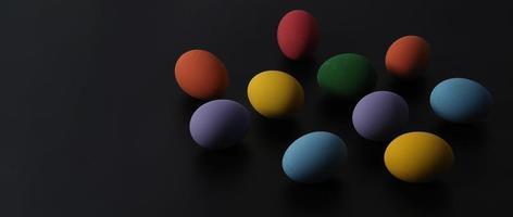 huevos de pascua o huevo de color. multicolor de huevos de pascua foto