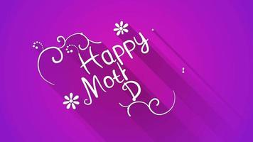 Happy mother's day text flat style animation video