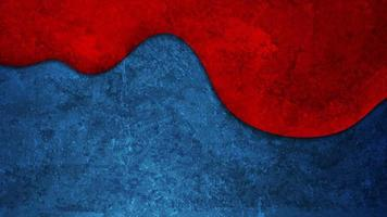 Contrast red and blue wave abstract corporate motion background with grunge concrete texture video