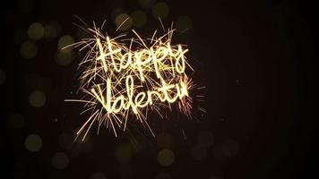 Happy valentine's day sparkler animation last 5s loopable video