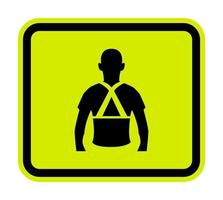 Wear Back Support Symbol Sign Isolate On White Background,Vector Illustration EPS.10 vector