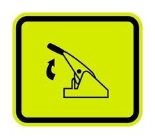 Pull Parking Brake Symbol Sign Isolate On White Background,Vector Illustration EPS.10 vector