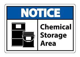 Signo de símbolo de almacenamiento químico aislado sobre fondo blanco. vector