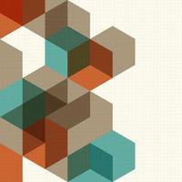 Fondo de cubos abstractos para diseño vector