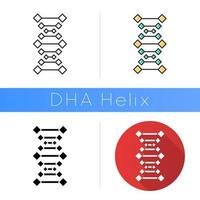 DNA chains icon vector