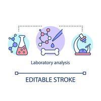 Laboratory analysis concept icon vector
