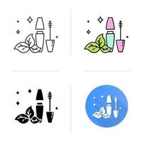 Natural mascara tube icon vector