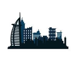 dubai city architecture silhouette icon vector