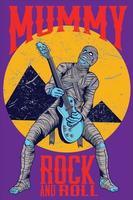 momia rock n roll vector