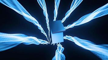 compte à rebours de 10 à 0 seconde avec tunnel en treillis métallique bleu foncé video