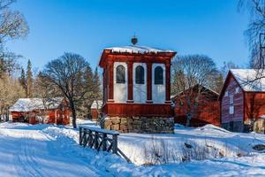 Norn, Sweden, 2021-02-07. Typical old village on the Swedish countryside, built around an old ironworks photo