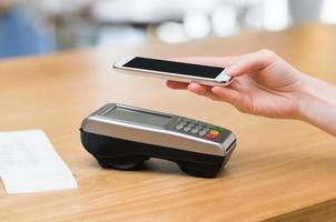 Paying with nfc technology photo