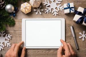 tableta digital de navidad foto