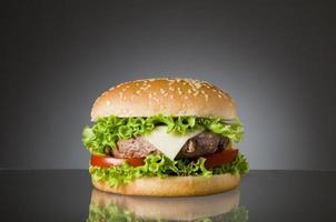 Delicious hamburger food photo