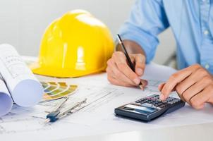 Architect Working At Desk photo