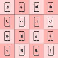 Mobile and web icons collection vector