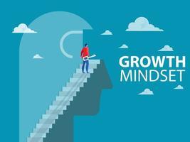 Businessman unlock thinking concept vector