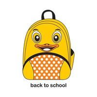 Kiddie Animal Backpack-Animal themed back to school - cute and funny face expression vector