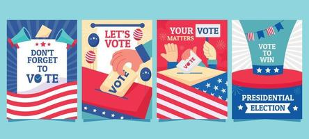 tarjeta de elecciones generales de EE. UU. vector