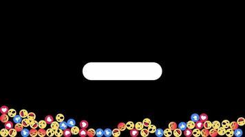 Animated social media emoji video