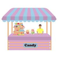 Stall counter with candy vector