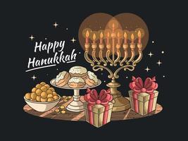 Happy Hanukkah Ceremony vector